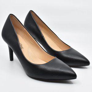 Black Pointy Toe Kitten Heels